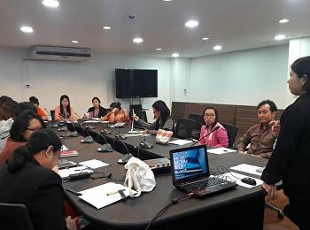 ประชุม KM กลุ่มงานห้องสมุด