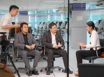 การถ่ายวีดีโอสัมภาษณ์ผู้บริหารคณะเทคโนโลยีอุตสาหกรรม เพื่อเป็นการประชาสัมพันธ์หลักสูตรสาขาวิชาที่เปิดสอนของคณะเทคโนโลยีอุตสาหกรรม