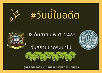 18th September 1896, Founding Day of the Royal Forest Department.